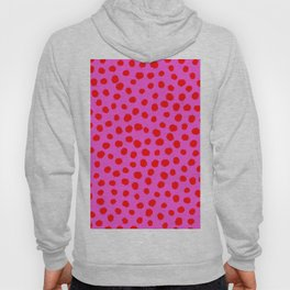 Keep me Wild Animal Print - Pink with Red Spots Hoody