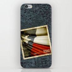 Grunge sticker of Texas (USA) flag iPhone & iPod Skin