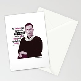 Ruth Bader Ginsburg ~ Privacy and Reproductive Control Stationery Cards