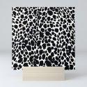 Animal Print Cheetah Black and White Pattern #4 by saundramyles