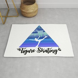 Figure Skating Female Skater Gift Rug