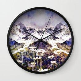 Rocky Mountain Meadow Wall Clock