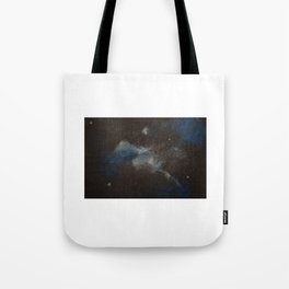 Blue and Silver Galaxy Tote Bag