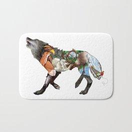 Colored Wilderness Wolf Bath Mat