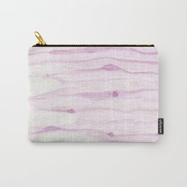 Pastel pink watercolor hand painted brushstrokes pattern Carry-All Pouch