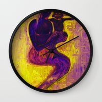madonna Wall Clocks featuring madonna rucellai by Karla Zercicov