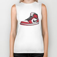 chicago bulls Biker Tanks featuring Jordan 1 OG (Chicago) by Pancho the Macho