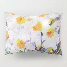 White Daffodil Meadow Pillow Sham