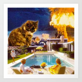 Midcentury Radioactive Cuddle Unit 5 Art Print