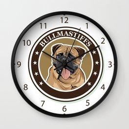 dog breed Bullmastiff Wall Clock