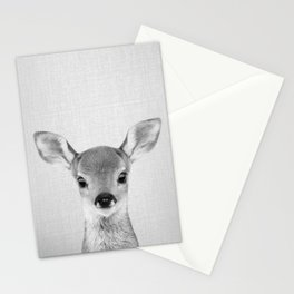 Baby Deer - Black & White Stationery Cards