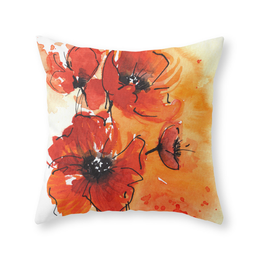 Watercolor Red Body Pillow | Zazzle