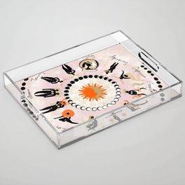 Zodiac Wheel Acrylic Tray
