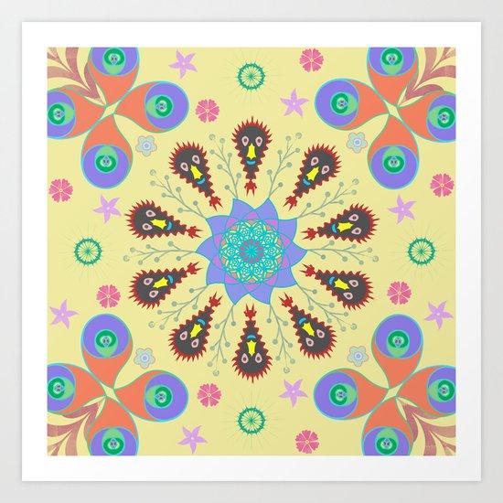 Monster Mandala Art Print