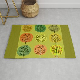 Tidy Trees All In Pretty Rows Rug