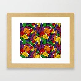 Schlong Song in Rainbow, All the Penis! Framed Art Print
