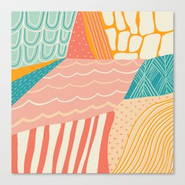 beach quilt Canvas Print