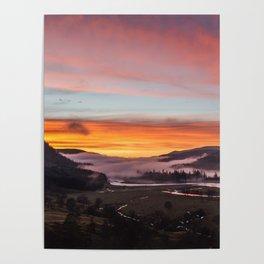 Smokey Dusk Valley Poster