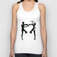 durarara Tank Tops featuring Shizuo & Celty by Prince Of Darkness