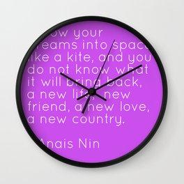 Anais Nin - Kite Wall Clock