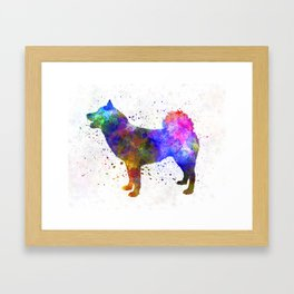 Greenland Dog in watercolor Framed Art Print