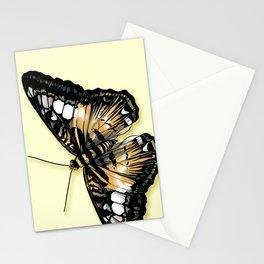 Papillon jaune et noir Stationery Cards