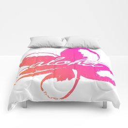 Aloha Plumeria from Maui, Hawaii! Comforters