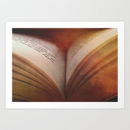 Between The Pages Of A Book Art Print