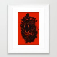 king Framed Art Prints featuring The King by nicebleed