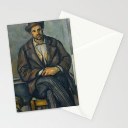 Paul Cézanne - Seated Peasant (1892–96) Stationery Cards