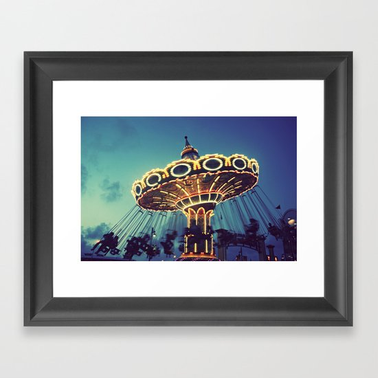 Blue Hour at the Carnival Framed Art Print