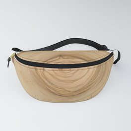 Realistic photo of detailed cut tree slice with rings and organic texture Fanny Pack