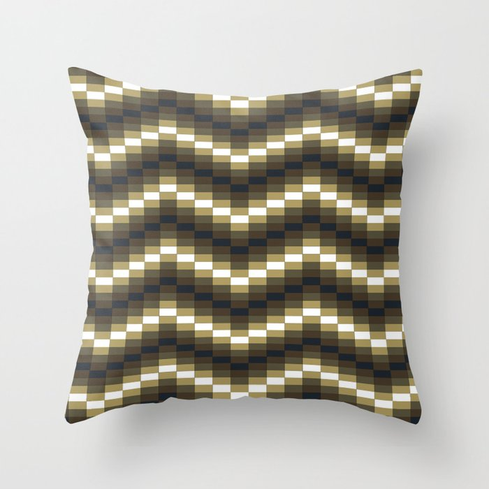 Block Wave Illustration Artwork Throw Pillow