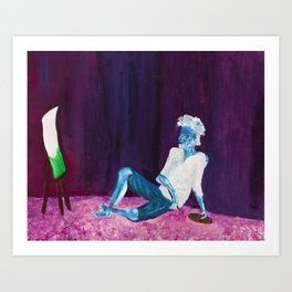 Contemplations of green Art Print