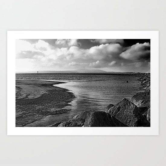 Down by the Rocks. Art Print