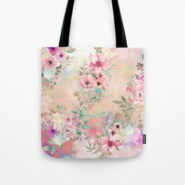 Botanical Fragrances in Blush Cloud Tote Bag