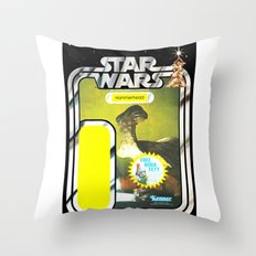Hammerhead Vintage Action Figure Card Throw Pillow