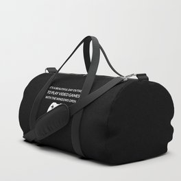 Beautiful Day To Play Video Games Duffle Bag