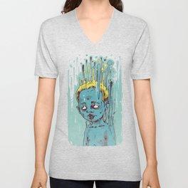 The Blue Boy with Golden Hair Unisex V-Neck