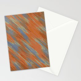 blue orange and brown painting abstract background Stationery Cards