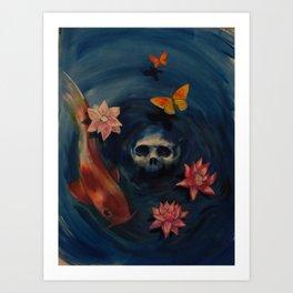 deep in the water Art Print