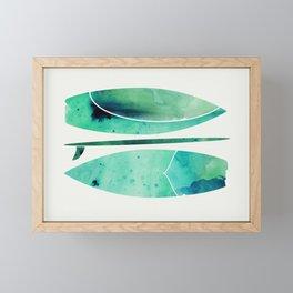 Watercolor Surfboards Framed Mini Art Print