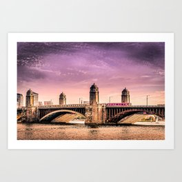 Longfellow Bridge, Boston MA Art Print