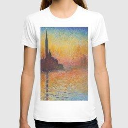 Claude Monet's San Giorgio Maggiore at Dusk T-shirt