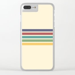 Rainbow Stripes III Clear iPhone Case