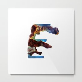 Universe Alphabet E Metal Print