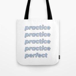 Practice Makes Perfect - Periwinkle Tote Bag