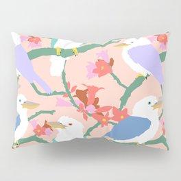 Kookaburra Birds + Little Kurrajong Flowers Pillow Sham