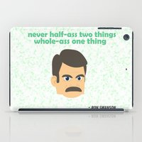 ron swanson iPad Cases featuring Swanson by tukylampkin