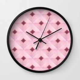 Baby Pink Diamonds Wall Clock
